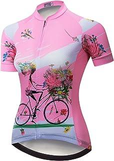 Combinaisons de Cyclisme Tops V/éLo de Route Respirant pour L/éT/é Cuissard /à Bretelles en Gel 9D pour Les Sports de Plein Air Ensembles de Maillot de Cyclisme pour Femmes
