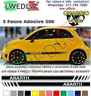 Abarth Scorpion Decals X2 Bianco per Fiat 500 595 Seat Laterali Posteriori