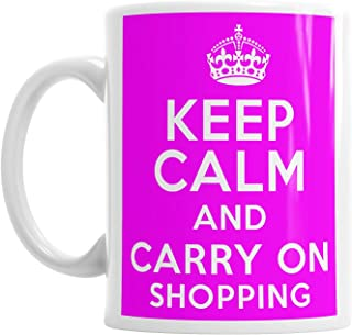 Moson Keep Calm And Carry On Shopping Mothers Mum Mummy Mom Novelty Tea Mug Gift