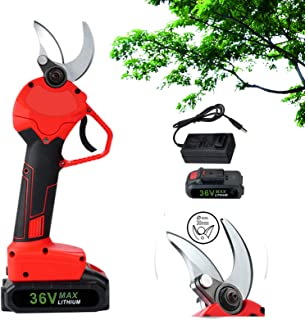 PAKASEPT 36V Electric Pruning Shears 2 Battery, 30mm Cordless Electric Branch Cutter Scissors, Garden Pruning Shears Elect...