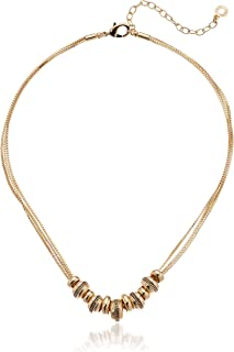 Women's Gold Frontal Necklace, Gold