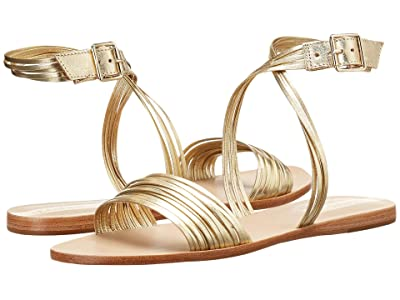 KAANAS Copacabana Strappy Ankle-Wrap (Gold) Women