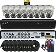 CIB Security T80P08K2T03W-TAI-8KIT 8CH 1080P Video Security DVR, 2TB HDD & 8x2.1-MP 1920TVL Night Vision Camera, White