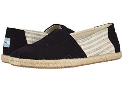 TOMS Alpargata (Black Ivy League on Rope) Men