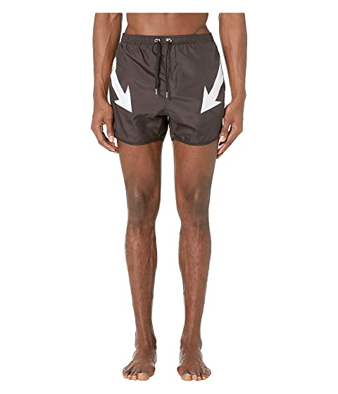 Neil Barrett Mirrored Arrow Bolt Swim Shorts