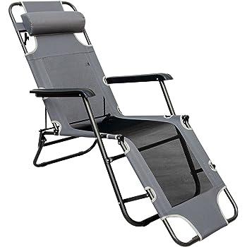 Omnideal Chaise Longue Pliable pour Camping et Jardin
