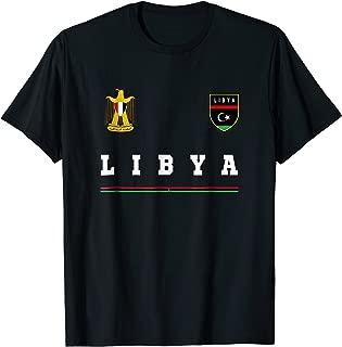 Libya T-shirt Sport/Soccer Jersey Tee Flag Football Tripoli