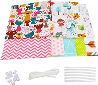 10pièce Tissus Coton Couture, Tissus au Metre Fabric Patchwork DIY Fait à la Main en Tissu à Coudre, Textiles pour Enfants...