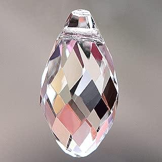 Bingcute Teardrop Chandelier Crystal Pendants Glass Pendants Beads Pack of 50
