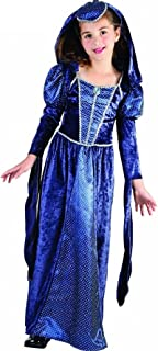 Childs Retro Fancy Lady Camelot Renaissance Princess Outfit Girls School Play Party Wear Costume