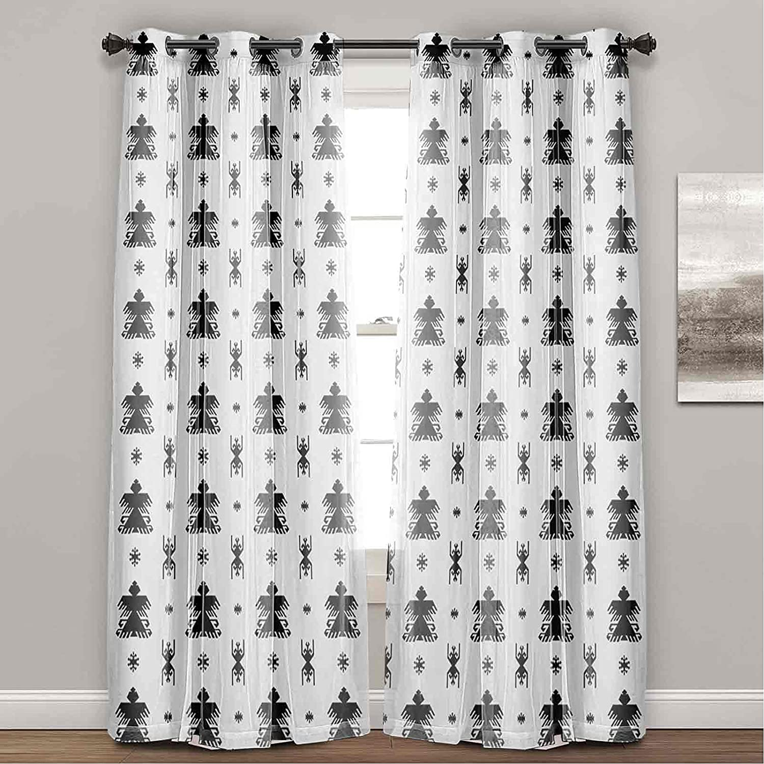 Thermal Insulated Blackout Curtains Graphic Ornamental Arrow Sales for sale Pa Animer and price revision