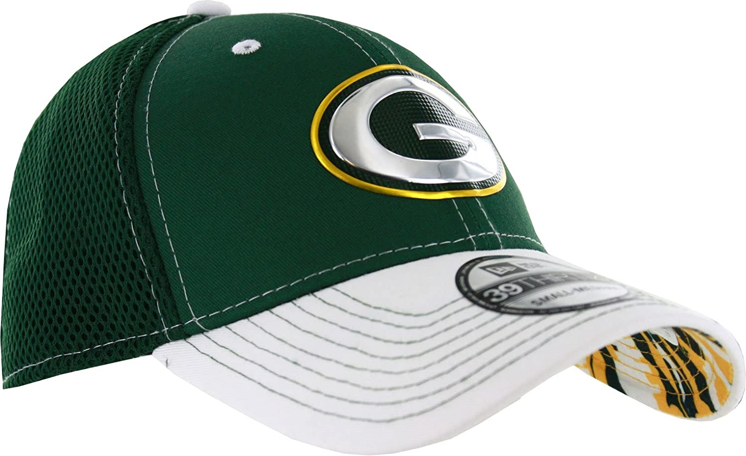 Green Bay Packers Kickoff Neo Reverse Flex Fit Hat, Medium Large