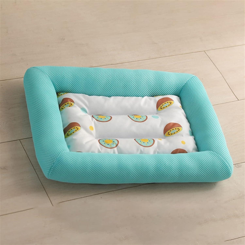 YSJJLRV Pet 2021 store mats Summer Dog Ice Cooling Silk Bed Bite-Resistant