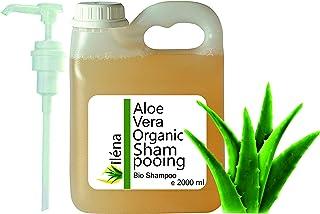 Bio Shampoo mit Aloe Vera, Argan und Vitaminen Sulfatfrei Silikonfrei Anti-Haarausfall Prävention Kahlheit 2000 ml