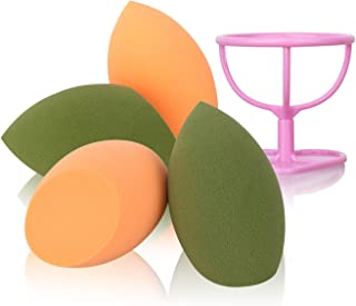 HIEIE Makeup Sponge with Dry Holder Beauty Sponge Blender Flawless Foundation for Liquid Cream and Powder (4+1Pcs)