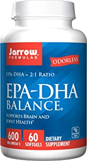 Jarrow Formulas EPA-DHA Balance, Boosts Brain Function, 60 Softgels