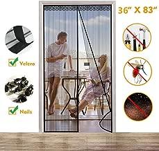 Puerta de Pantalla Magnética Malla Cortina Mosquitera Magnético Film para Puertas con Malla Super Fina Transpirable y Cierre Automático Magnético para Dejar a los Insectos Fuera Fácil de Instalar - 90x210cm