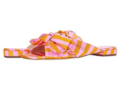 J.Crew Tie Stripe Bow Lucy Slide (Bubble Gum Marigold) Women