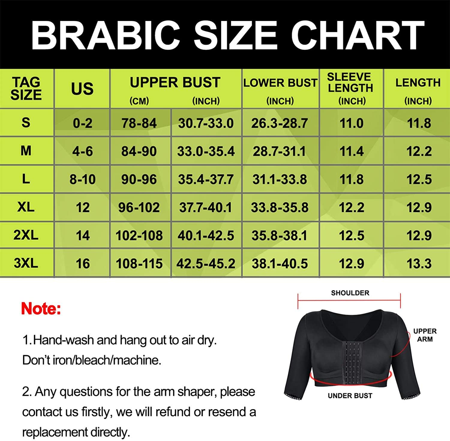 BRABIC Shaper Tops for Women Arm Compression Post Surgery Front Closure Bra Tank Top Shapewear
