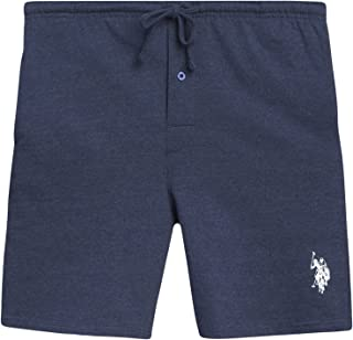 U.S. Polo Assn. Mens' French Terry Sleepwear Lounge Shorts with Side Pockets