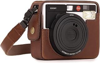 MegaGear Estuche Ever Ready Funda de Pronto Uso de Cuero con Correa Compatible con Leica Sofort Instant