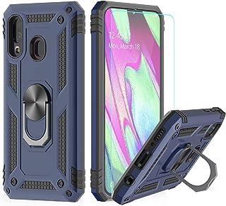 3dae68e6f92 LeYi Funda Samsung Galaxy A40 Armor Carcasa con 360 Anillo iman Soporte  Hard PC y Silicona