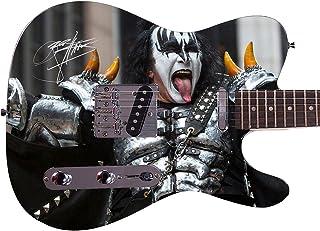 Kiss Gene Simmons Autographed Signed Custom Graphics Guitar