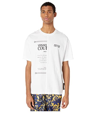 Versace Jeans Couture 50/50 Over Fit T-Shirt (White) Men