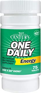 21st Century, One Daily Energy, 75 Tablets by ROYALISTA.RON