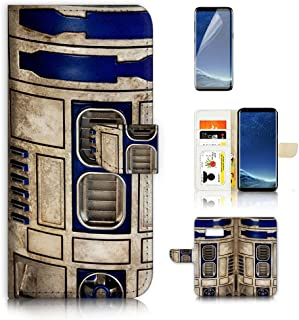 ( For Samsung S8 Plus , Galaxy S8+ ) Wallet Case Cover A4061 R2D2 Starwars