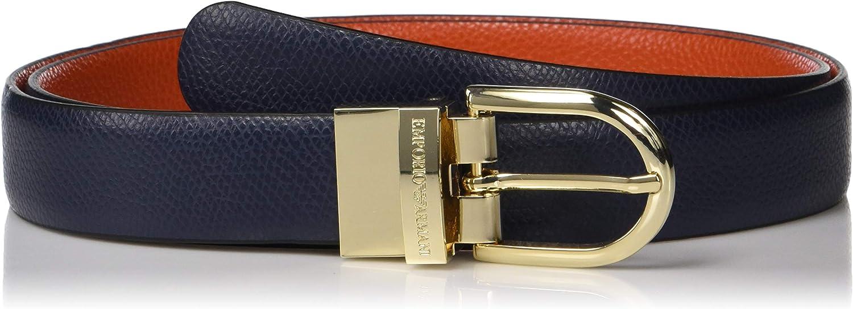 Emporio Armani womens Deer Print Leather Belt Belt