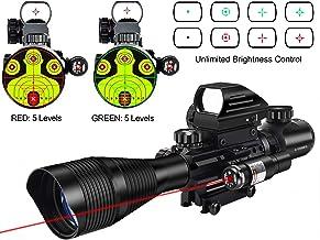 MidTen 4-12×50 Dual Illuminated Scope with Dot Sight & Laser Sight & 20mm..