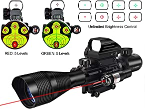 MidTen 4-12x50 Dual Illuminated Scope with Dot Sight & Laser Sight & 20mm Mount