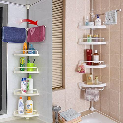 bi3 Aidesen 4 Tier Adjustable Bathroom Organiser for Corner