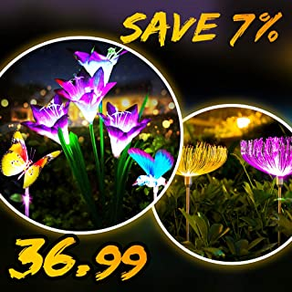 【Discount Bundle】 Animal Solar Decorative Lights & Jellyfish Solar Garden Lights (5 Pack )