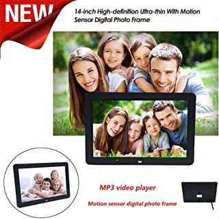 Nesee Digital Photo Frame, 14-inch High-Definition Ultra-Thin with Motion Sensor MP3 Video Player