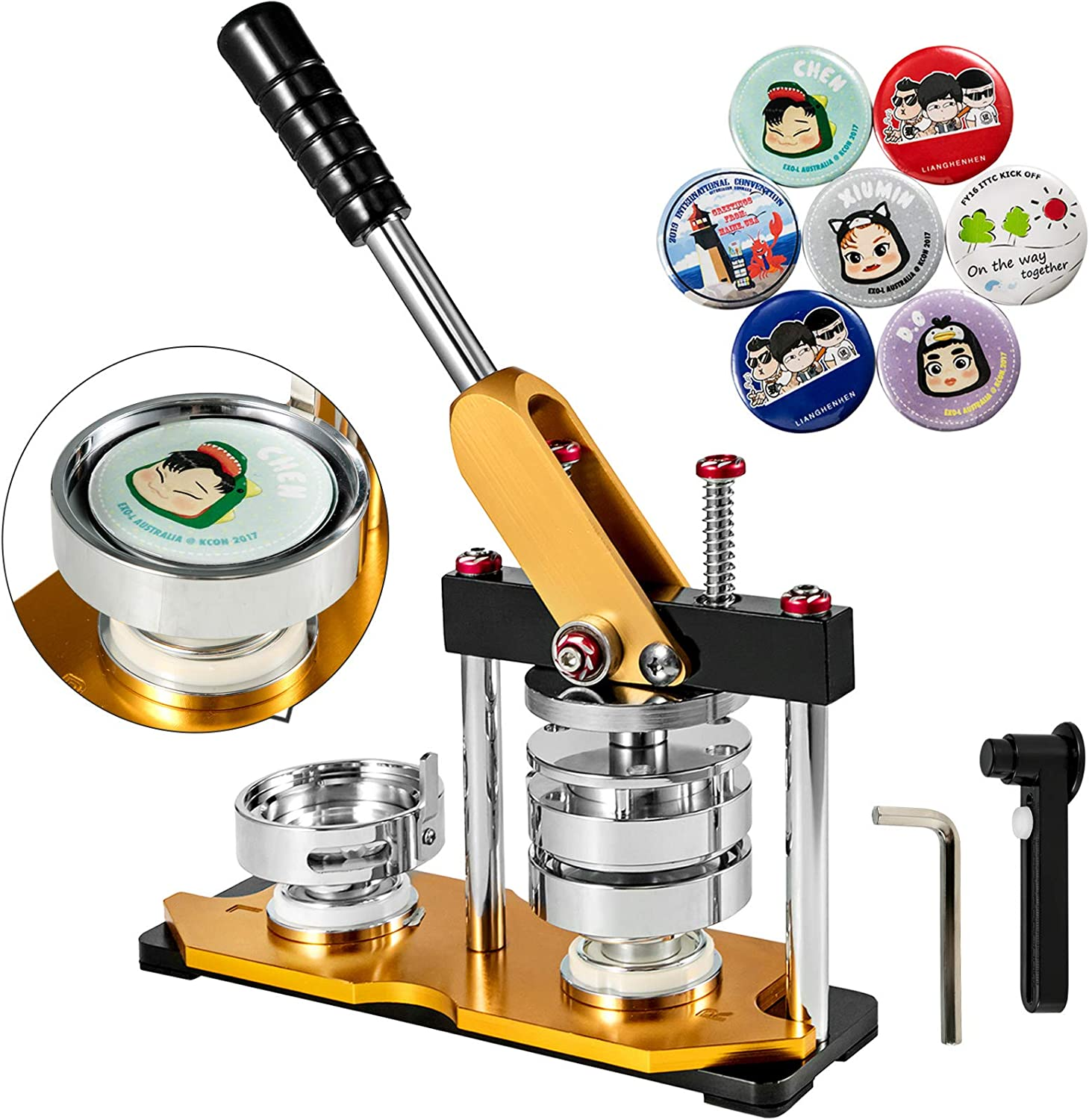 VEVOR Button Maker 75mm Pu Limited Special Price Rotate mart 3inch Badge