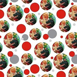 GRAPHICS & MORE Christmas Holiday Santa and Black Lab Labrador Dog Premium Gift Wrap Wrapping Paper Roll
