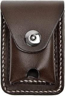 ZLYC Handmade Genuine Leather Cigarette Case Pouch Waist Belt Loop Lighter Case