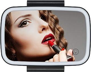 GoolRC Car Sun Visor Mirror with LED Lights Makeup Sun-Shading Cosmetic Mirror Adjustable Vanity Mirror Clip on Automobile...