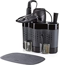 Minky Homecare Styling Dock w/Silicone Mat Hair Tool Storage Black/Gray