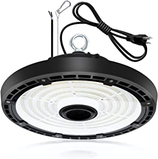 LED High Bay Light, 200W UFO Fixtures 5000K 28000LM Replace 1,000W HID/MH/HPS Dimmable Warehouse Lighting with 6' Cord Plug for Barn Workshop Garage Shop Gym Commercial UL DLC Listed IP65 AC100-277V