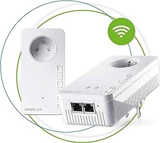 Devolo Magic 2 WiFi Next: Starter Kit CPL WiFi más rápido del Mundo (2400 Mbps, 3 Puertos Gigabit Ethernet, Ideal para teletrabajo y Streaming