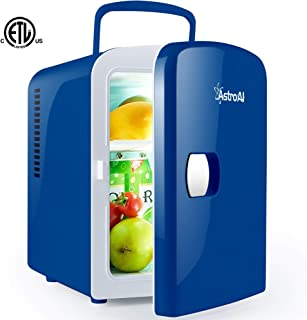 AstroAI Mini Fridge 4 Liter/6 Can Portable AC/DC Powered...