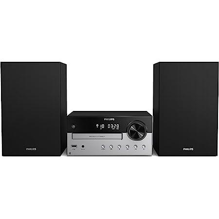 Philips M4205/12 Mini Chaîne Hi-FI CD, USB, Bluetooth (Radio FM, CD-MP3, 60 W, Entrée Audio, Port USB pour Charge, Enceintes Bass Reflex, Contrôle Numérique du Son) - Modèle 2020/2021