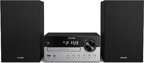 Philips M4205/12 Mini Chaîne Hi-FI CD, USB, Bluetooth (Radio FM, CD-MP3, 60 W, Entrée Audio, Port USB pour Charge, Enceint...