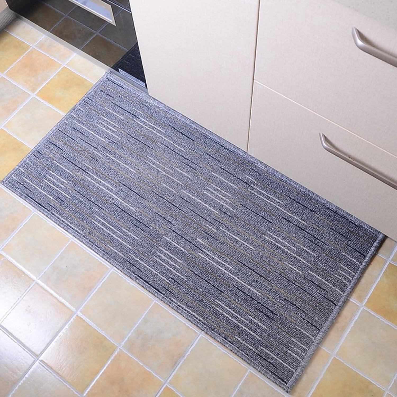 Kitchen Floor mats Anti-skidding,Oil mats Water Absorbent Foot mat go to The Door and rub The Foot Door mat-A 50x160cm(20x63inch)