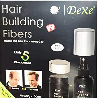 Hair building Fibers, Dexe brand, color black