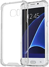 MXX Galaxy S7 Clear Case, Hybrid Bumper Case with TPU/PC and Crystal Ultra Clear Back Hard Panel Cover Scratch Resistant for Samsung Galaxy S7