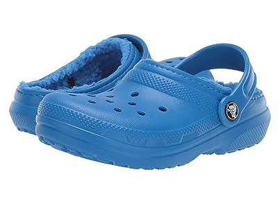 Crocs Kids Classic Lined Clog (Toddler/Little Kid) (Bright Cobalt/Bright Cobalt) Kids Shoes